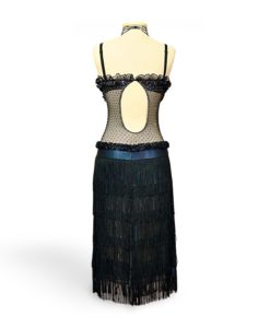 Black with Fringe Latin Ballroom Dance Dress