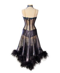 Latin Ballroom Dance Dress Black Elegant