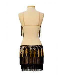 Latin Ballroom Dress - Black-Yellow