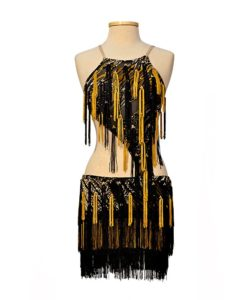 Black-Yellow Latin Ballroom Dress