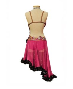 Latin Ballroom Dance Dress - Rose with Sequins