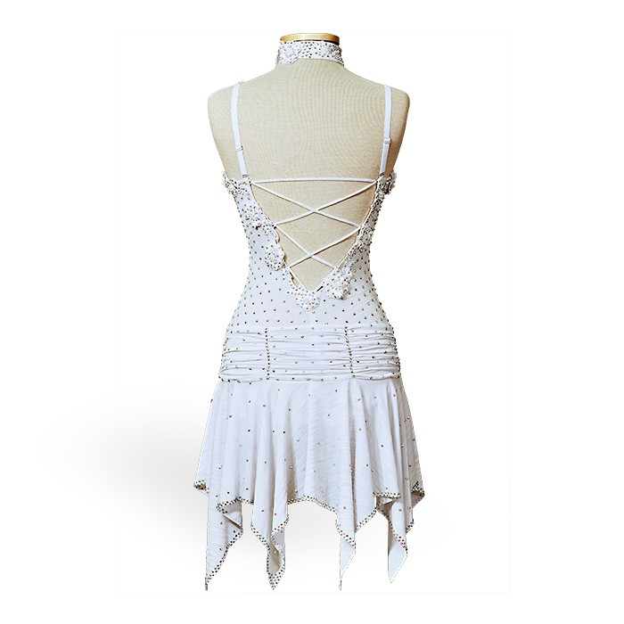 Ballroom Latin Custom Dance Costume - Dress white