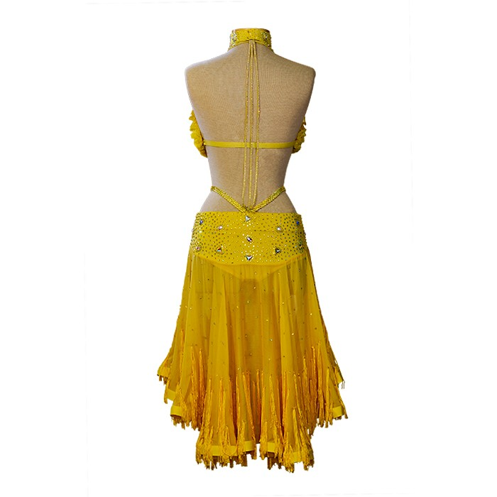 Ballroom Latin dress yellow
