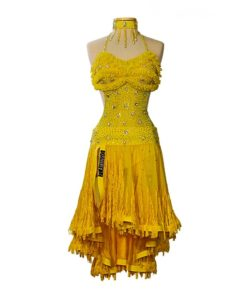 Yellow Ballroom Latin dress