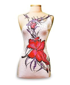 Design your own Leotard! Gymnastics Leotard-Red Flower