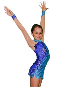 Ice Skating - Gymnastics Leotard for Girls - Sea Blue - FlamingoSportswear