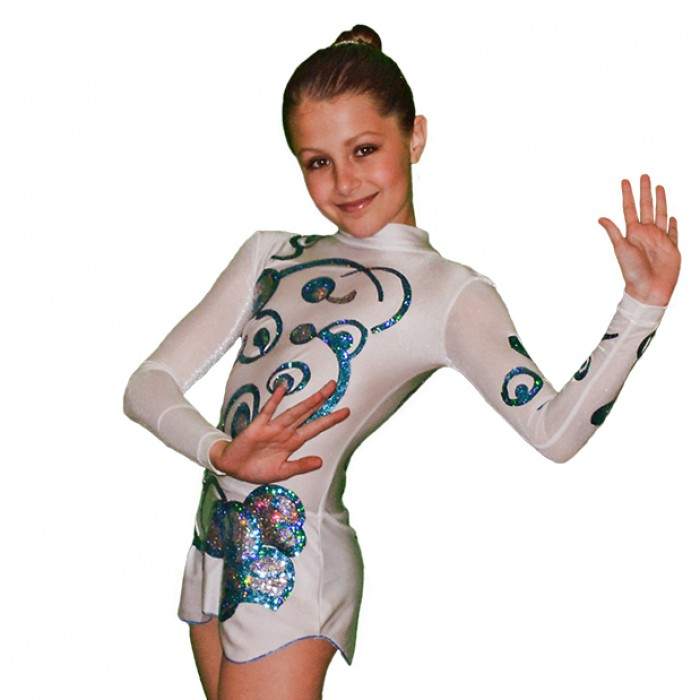 Long Sleeve Gymnastics Leotard - Space - FlamingoSportswear