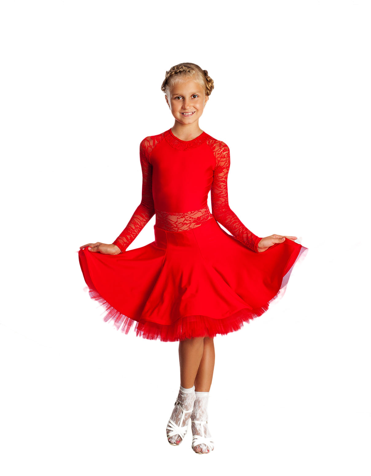Girls Competition Ballroom Latin dance dress-BS-48-D