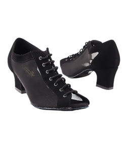 Very Fine Dance Shoes - 1643 - Black Nubuck-Black Mesh size 10 - 2-inch heel