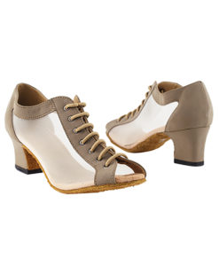 Very Fine Dance Shoes - 1643 - Brown Nubuck-Flesh Mesh size 10 - 2-inch heel