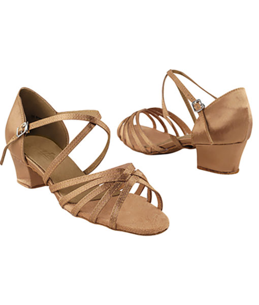 Very Fine Dance Shoes - 1670C - Brown Satin  1.5-inch Heel size 10 - 1.5-inch heel