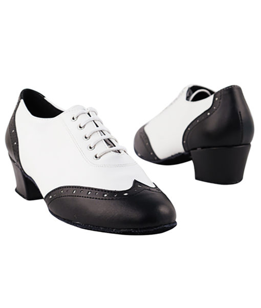 Very Fine Dance Shoes - 2008 - Black-White Leather size 10 - 1.5-inch heel