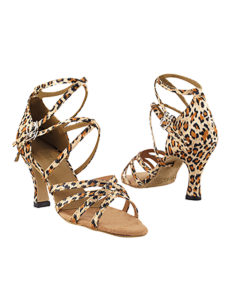 Very Fine Dance Shoes - 5008 - Leopard Satin size 10 - 3-inch heel