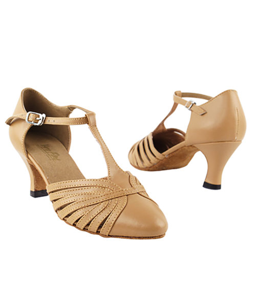 Very Fine Dance Shoes - 6829 - Beige Brown Leather size 10 - 2.5-inch heel