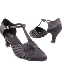 Very Fine Dance Shoes - 6829 - Black Satin size 10 - 2.5-inch heel