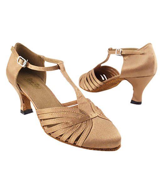 Very Fine Dance Shoes - 6829 - Brown Satin size 10 - 2.5-inch heel