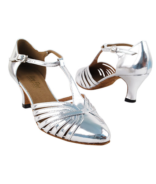 Very Fine Dance Shoes - 6829 - Silver Leather size 10 - 2.5-inch heel