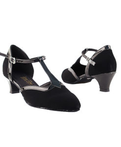 Very Fine Dance Shoes - 9627 - Black Nubuck-Black Trim  1.3-inch Heel size 10 - 1.3-inch heel