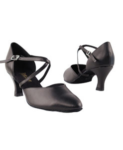 Very Fine Dance Shoes - 9691 - Black Leather size 10 - 2.5-inch heel