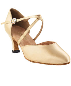 Very Fine Dance Shoes - 9691 - Light Brown Satin size 10 - 2.5-inch heel