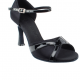 Black Satin-Black Patent Trim